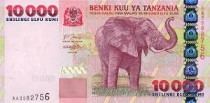 10000 Tanz shilling note