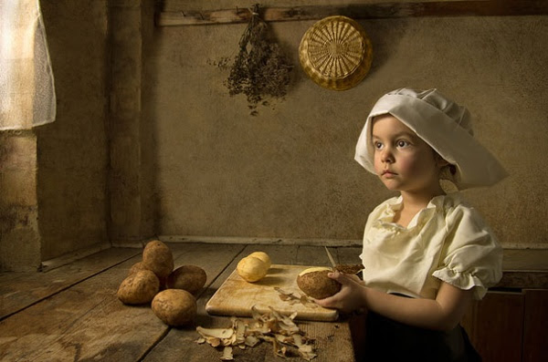 little girl as flemmish painting