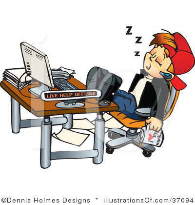 goofing off royalty-free-office-clipart-illustration-37094