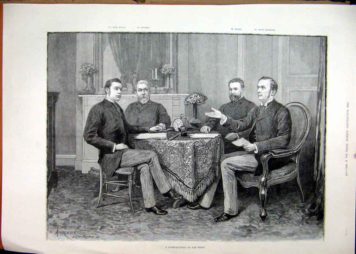 men at a table