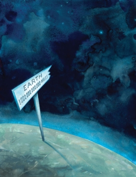 Earth -- this way sign